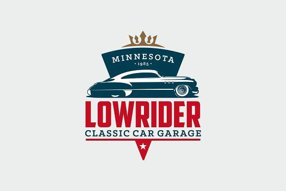 Classic Car Garage Logo by g design on Creative Market