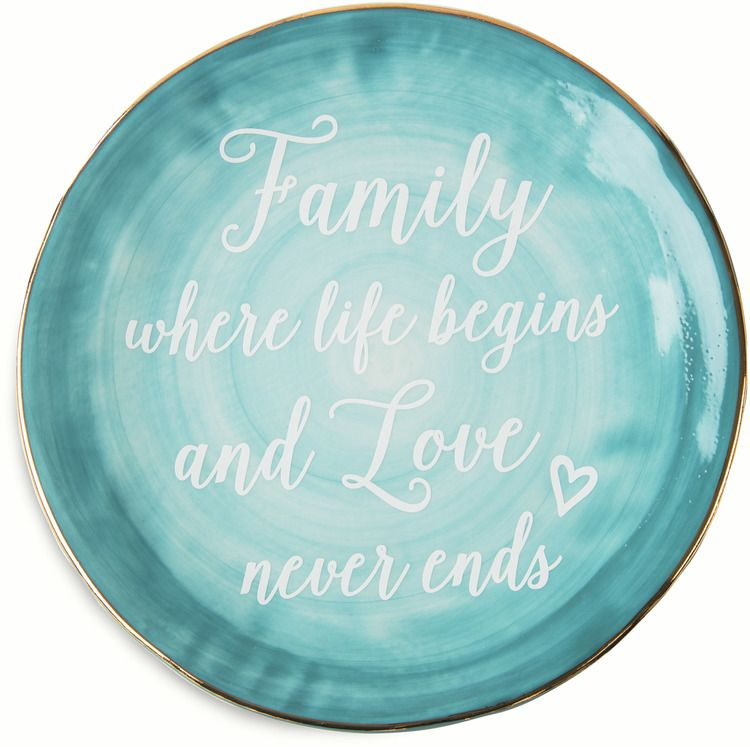 Family Where Life Begins and Love Never Ends Decorative Plate Blue  sc 1 st  Pinterest & Family Where Life Begins and Love Never Ends Decorative Plate Blue ...