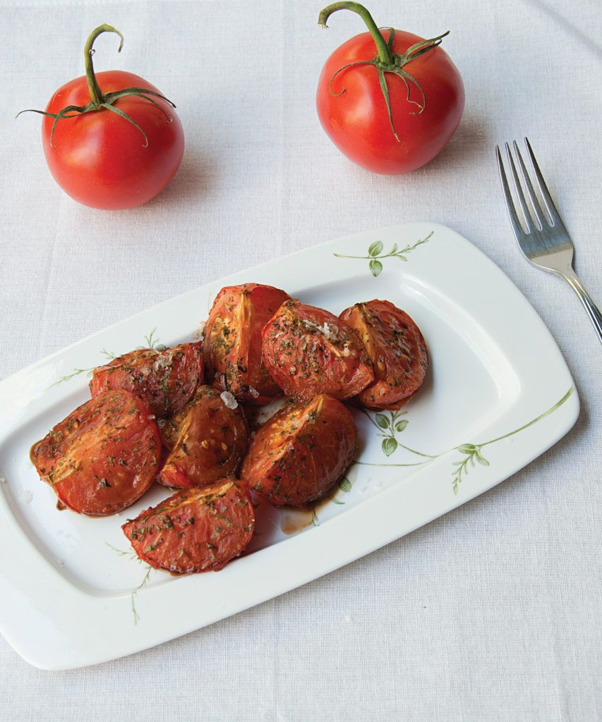 Balsamic Herbed Tomatoes (from The Vegan Air Fryer