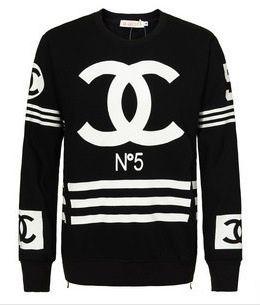 e9b3865deccf Image of Chanel Logo Side Zip Sweatshirt   joggings   Chanel, Chanel ...