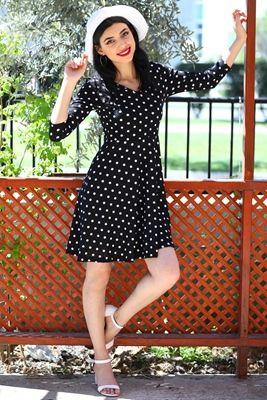 27af10a836675 Desenli Elbise sezon sonu indirimi ve kapıda ödeme seçeneği ile patirti .com'da!