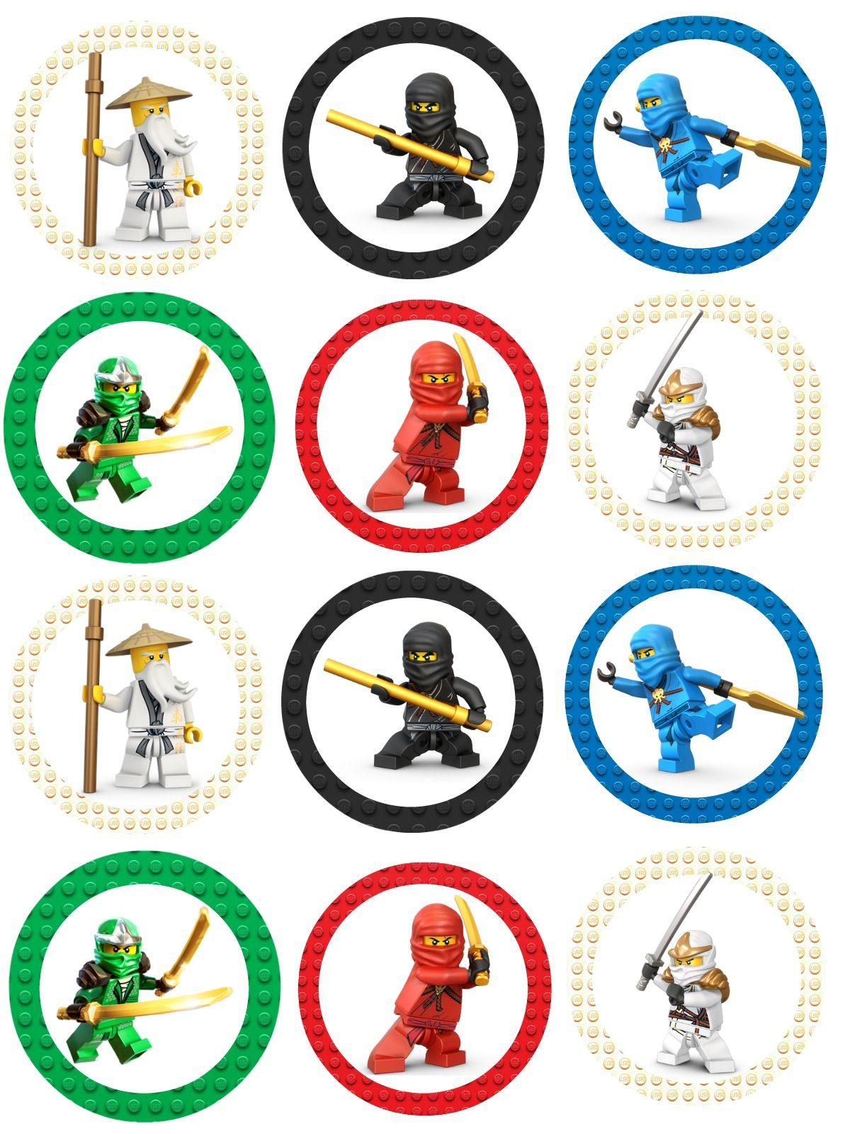 Ninjago Cupcake Toppers … | Lego Ninjago party in 2019…