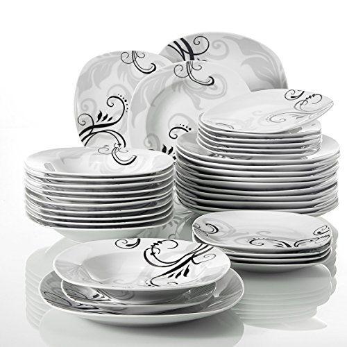 Veweet ZOEY 36pcs Assiettes Pocelaine Service de Table 12... https ... e795cf076e65