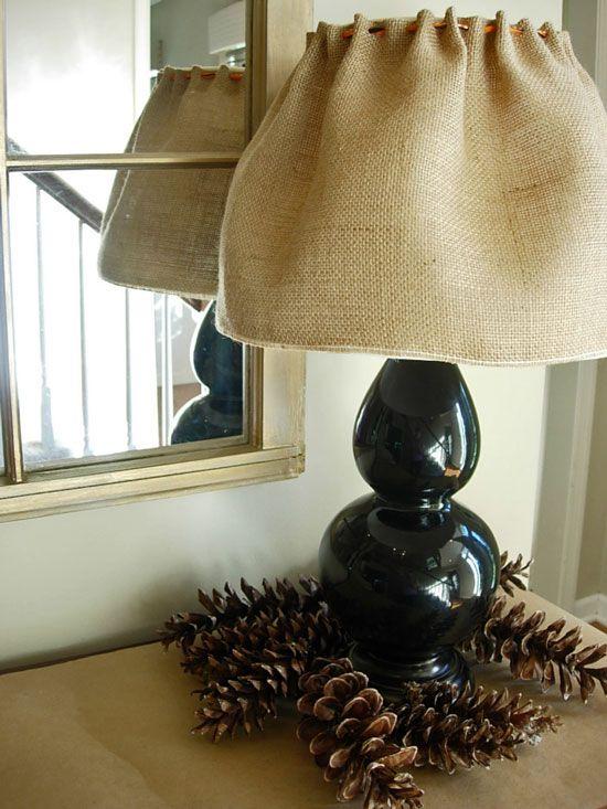 Burlap lamp shade cover so easy cute h0me dec0r pinterest burlap lamp shade cover so easy cute aloadofball Choice Image