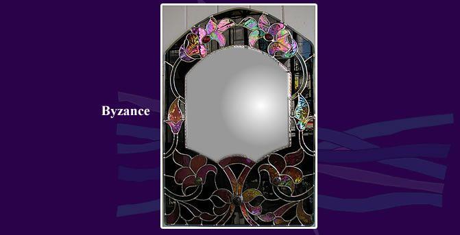 vitraux decoration | Vitrail d'art - Vitraux du verseau : création de cadre de miroir en ...