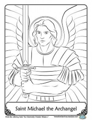 St Michael Coloring Page Angel Coloring Pages Coloring Pages