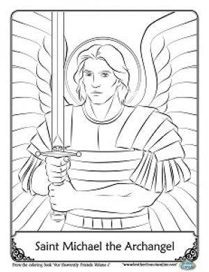 Coloring Michael Pages Saint 2020 Coloring Pages St Raphael