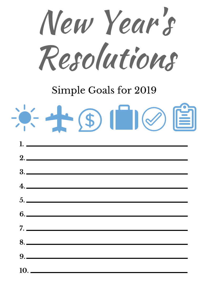 Minimalist New Year Resolutions New Years Resolution Year Resolutions Positive Habits