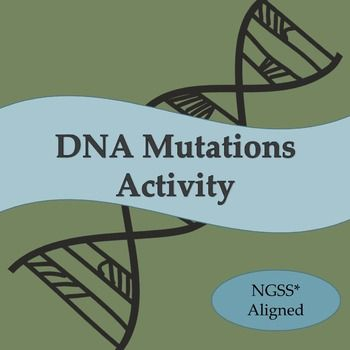 DNA Mutations Activity for Middle School NGSS* Aligned ...