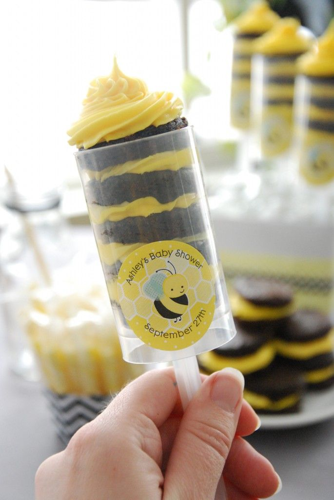 Baby Shower Ideas: Bumble Bee Brownie Pops #BigDot # ...