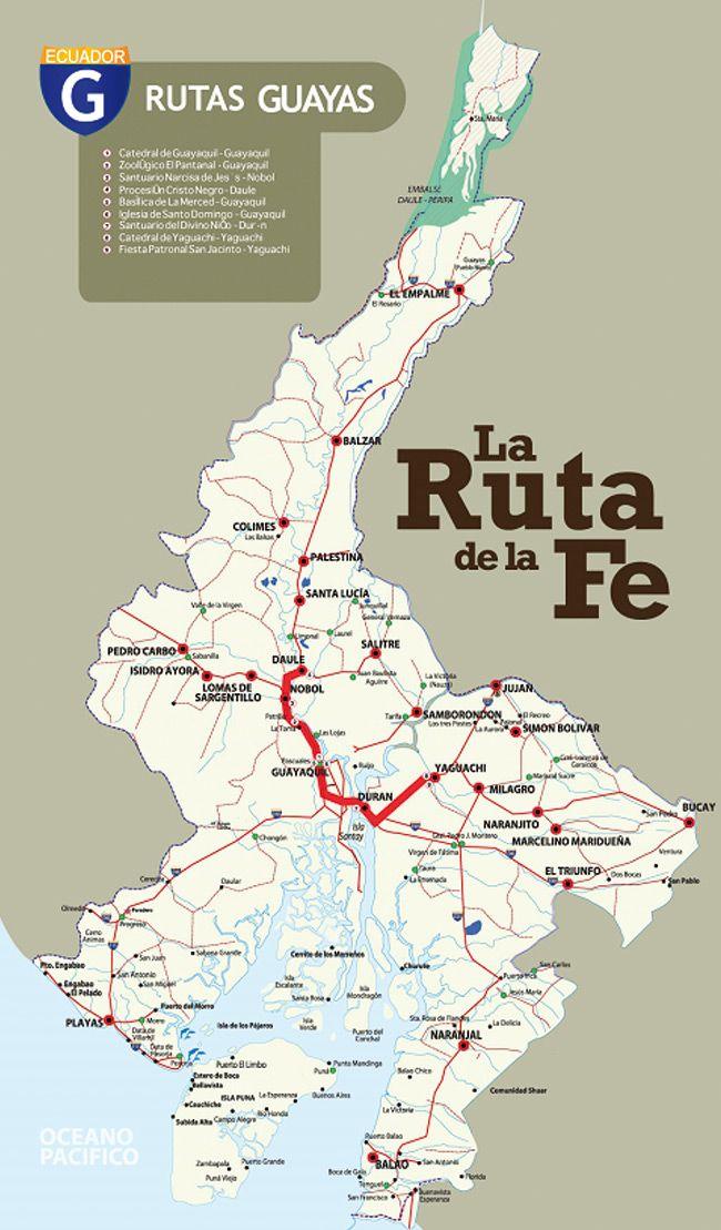 Mapa de la ruta de la fe en guayas guayas turismo ecuador as mapa de la ruta de la fe en guayas guayas turismo ecuador gumiabroncs Images