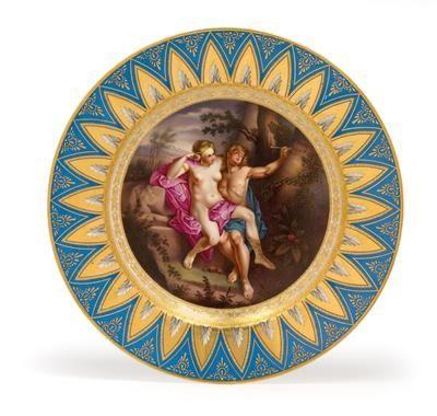 Angelique and Medor - A Royal Vienna Porcelain Cabinet Plate, circa 1805.