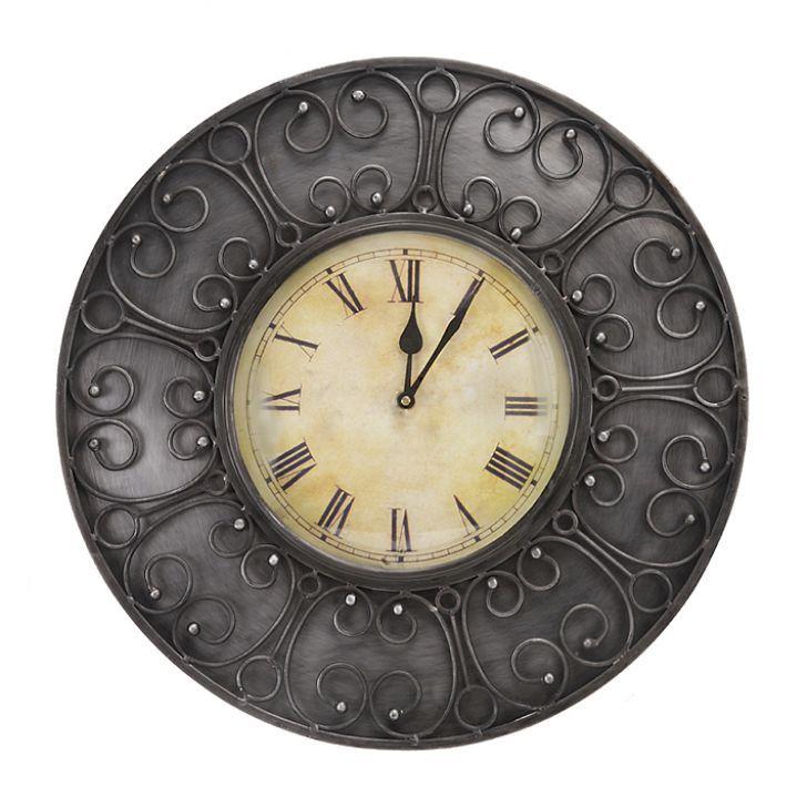Metalart Antique Wall Clock Fabfurnish Com Living Room