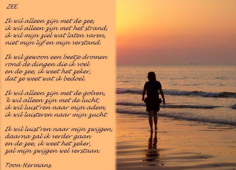 Genoeg De zee - Toon Hermans - mooie gedichten | Pinterest - Gedichten  UF42