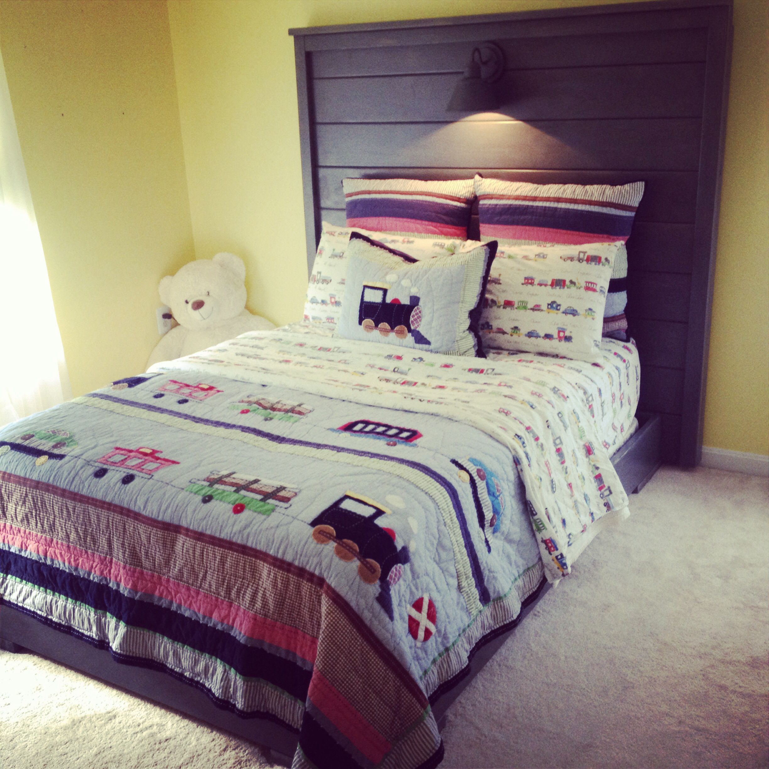 Handmade Stained Wood Pine Bed With Pottery Barn Kids