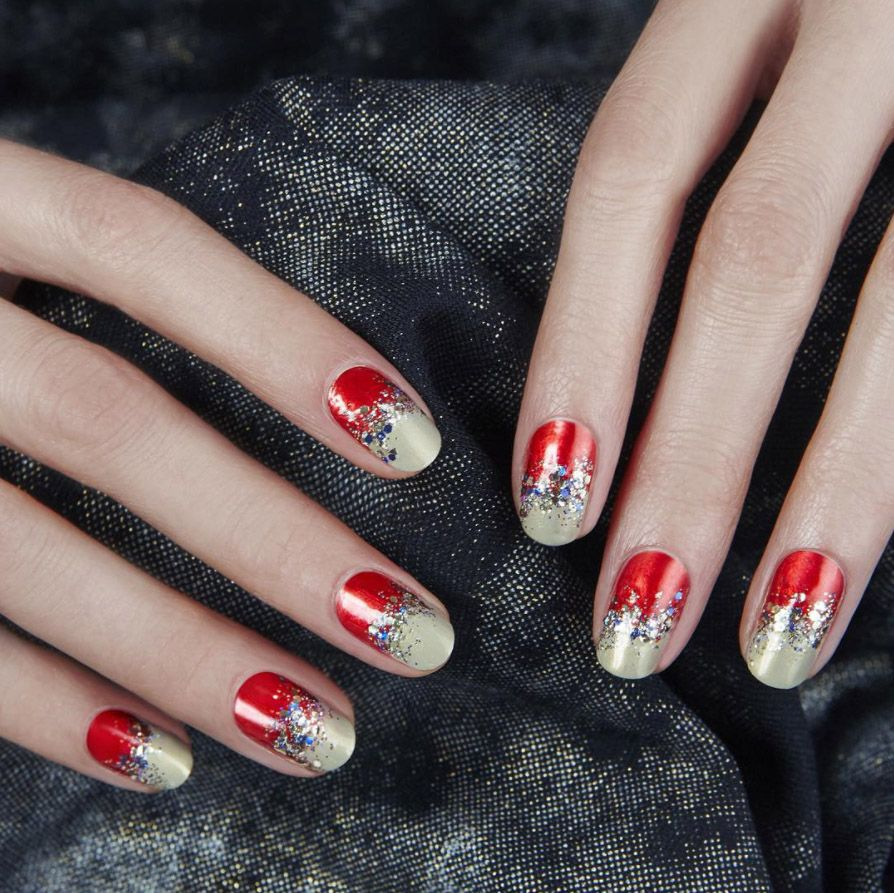 For red hot tips with a twist, try these chic nail designs. - 15 Red Nail Art Ideas To Try This Party Season Nail Services And