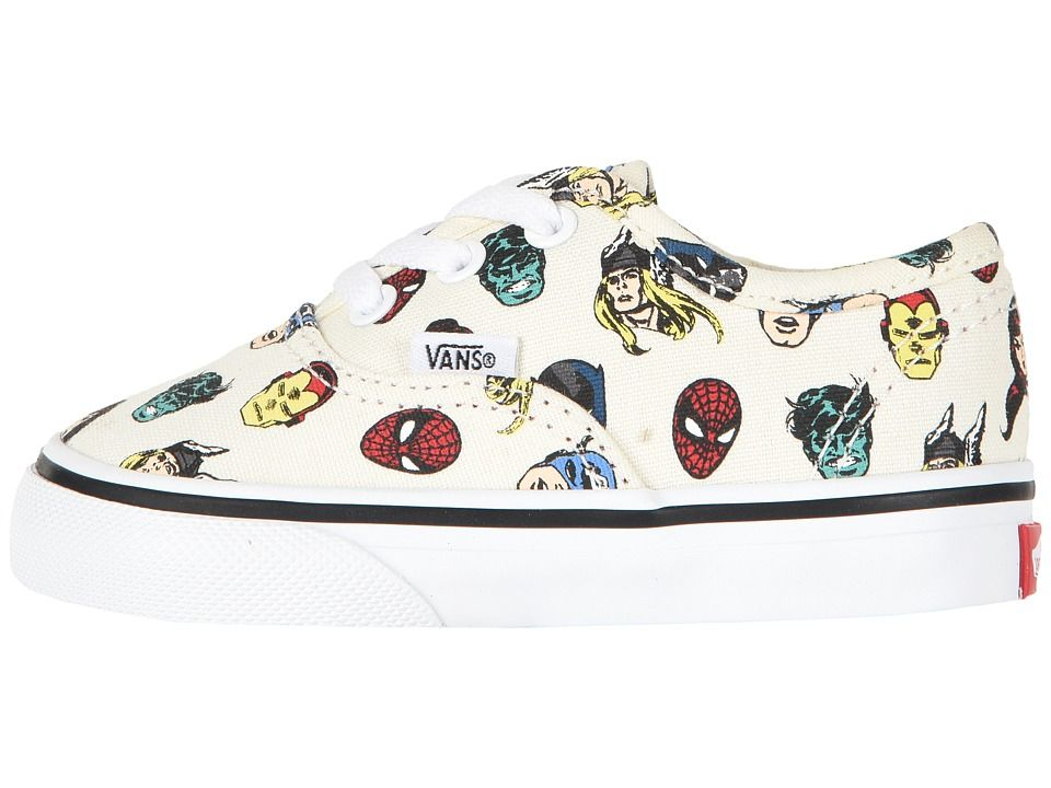 21f6396de1492b Vans Kids Vans X Marvel(r) Authentic (Infant Toddler) Kid s Shoes Black
