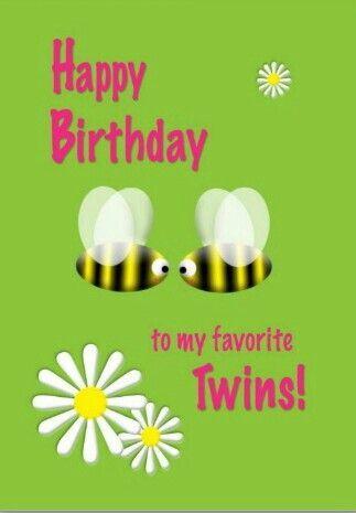 Happy Birthday Twins Images My Birthday