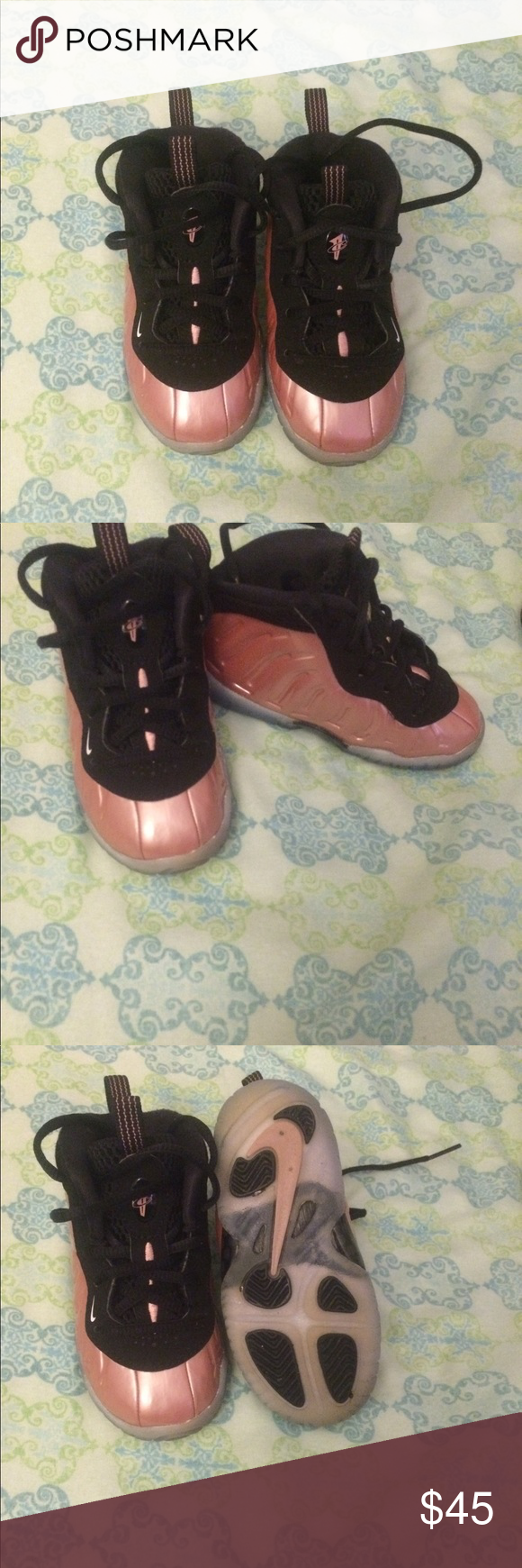 10fb1c7b7c6 Nike Foamposite Size 6c (toddler) Rose Gold gently worn Nike Shoes Sneakers