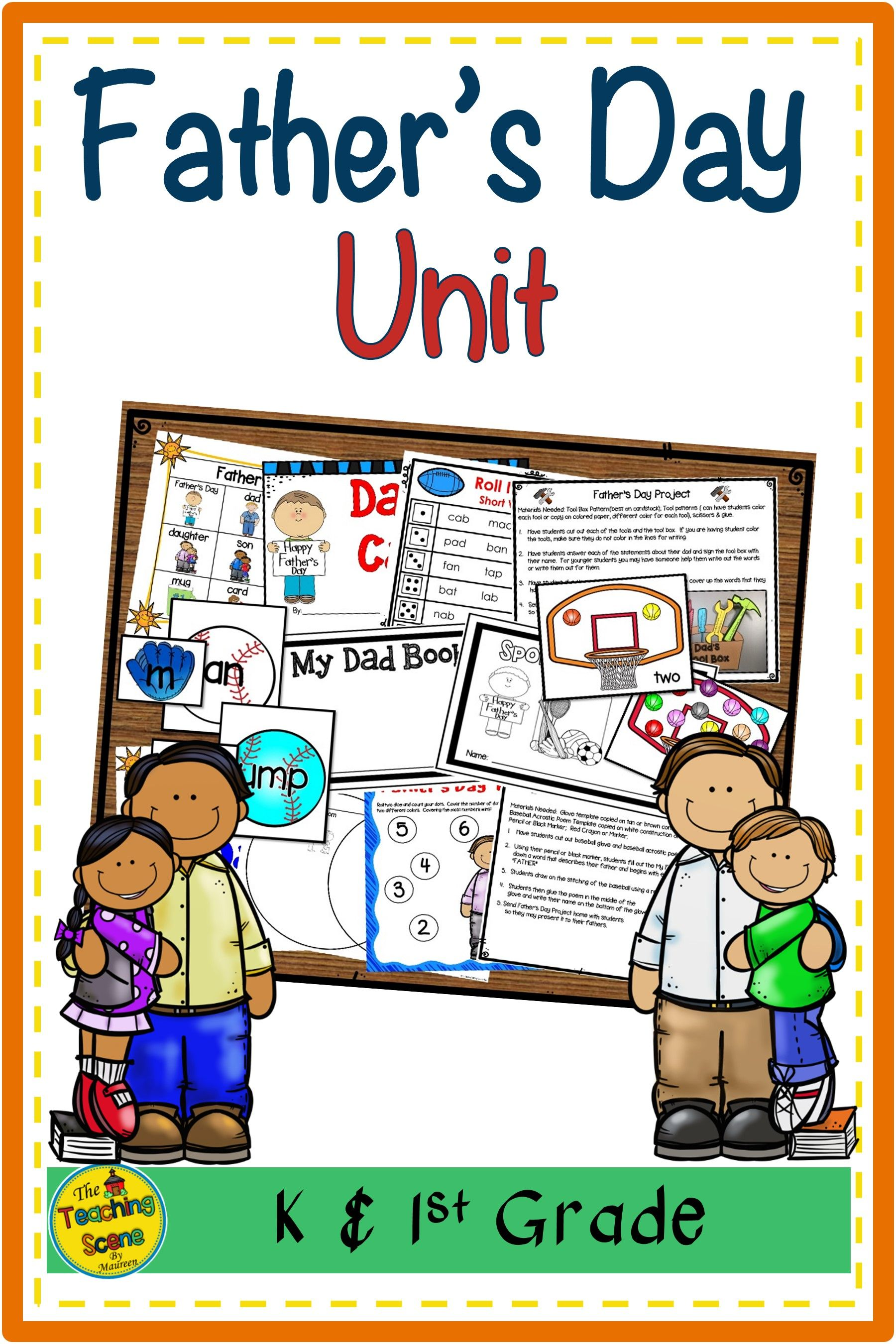 Father S Day Unit Literacy Amp Math Activities Center