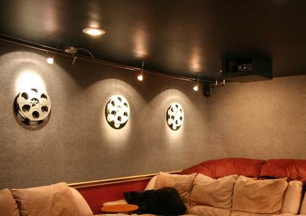 For The Hollywood Movie Themed Living Room Home Theater Interior Decorating Ideas