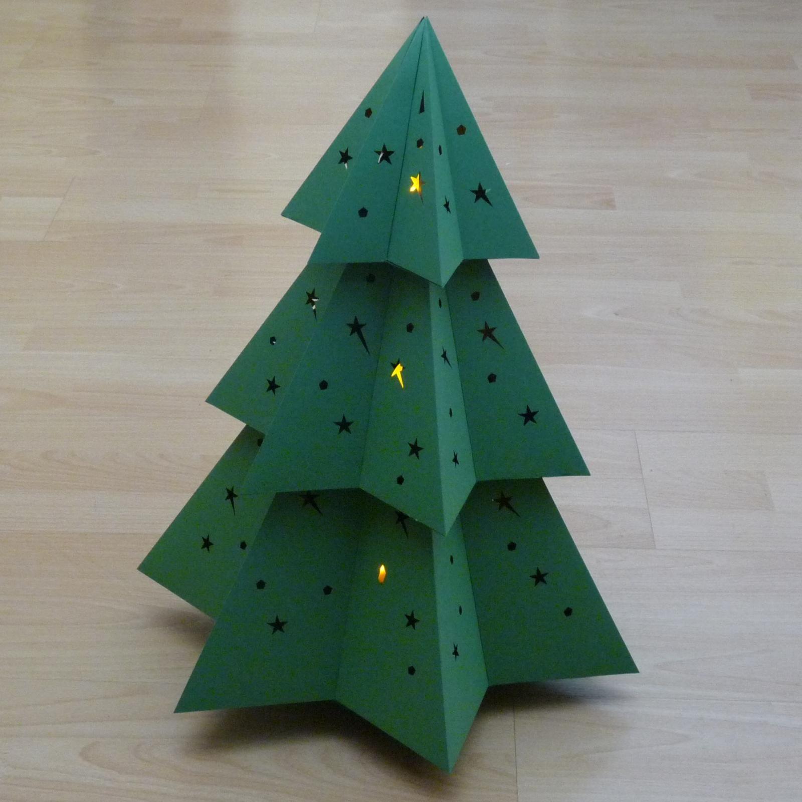 Hexagram Kerstboom Vouwen Groep 7 8 Bovenbouw Papieren