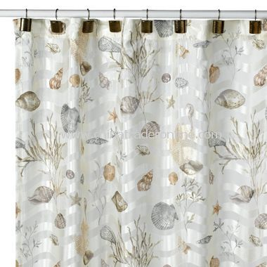 Curtains Ideas beach shower curtain : 17 Best images about Home-Bathroom on Pinterest | Coral shower ...