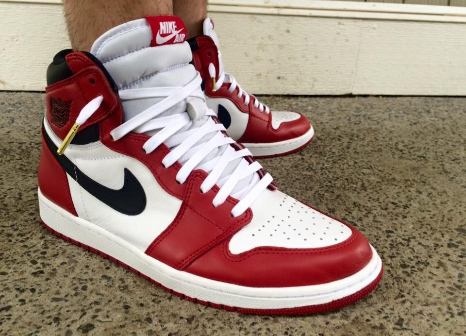 hot sale online b8161 ec11e Laced Up White Wax Gold Aglet Laces x Chicago Jordan 1 s Photo by  Tyrone  Legaspi Harrison Dope Lace Swap   Get yours here bit.ly 1fXls4s