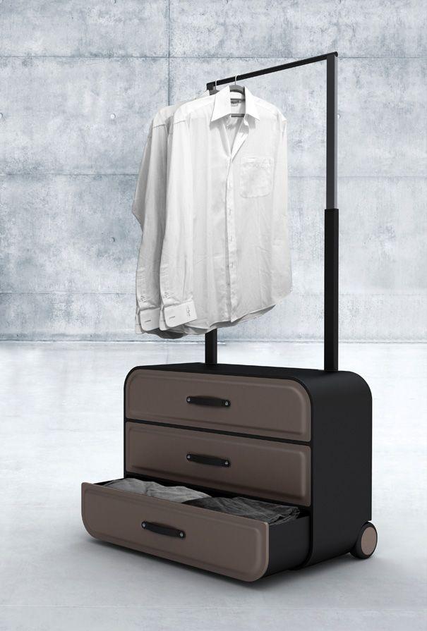 Traveler S Closet Closet Styled Suitcase By Psychic Factory Yanko Design Invencoes Criativas Invencoes Reaproveitamento De Materiais