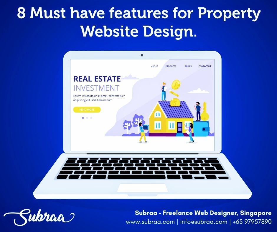 Subraa Freelance Singapore Website Design Freelance Web Design Real Estate Website Design