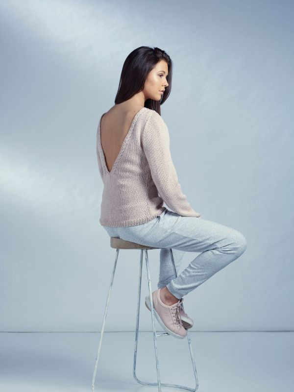 FREE V back sweater #knitting pattern: free download #knitwear ...