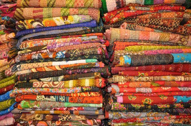 Kleurrijke quilts