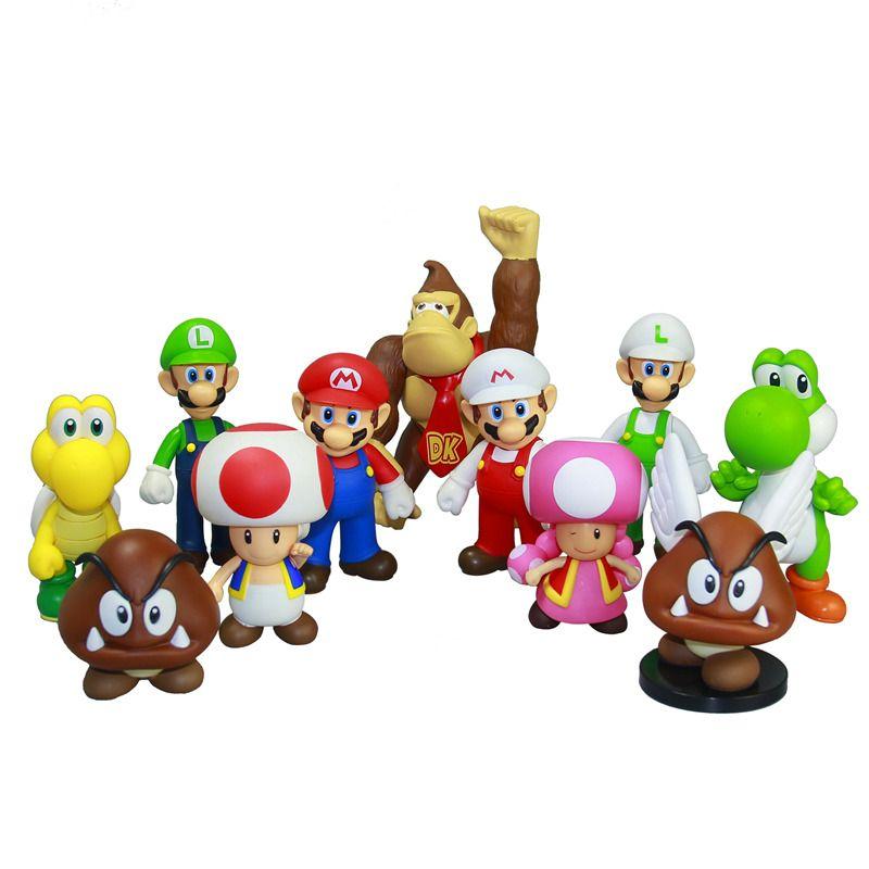 جديد سوبر ماريو بروس يوشي اريو عمل أرقام الفينيل دمية نموذج Pvc لعبة دمية ماريو لويجي يو Super Mario Bros Super Mario Bros Birthday Party Super Mario Bros Toys