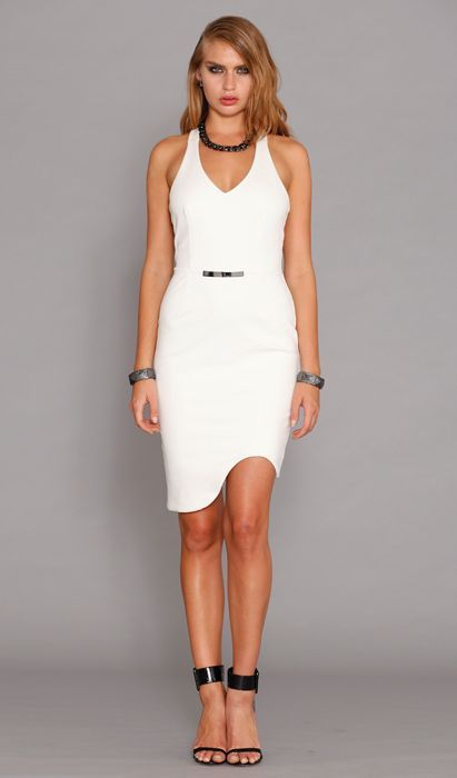Pasduchas - Esoteric Dress - Ivory - Bodycon - Frockaholics / Online Shopping / Clothes Online / Shoes Online / Accessories Online