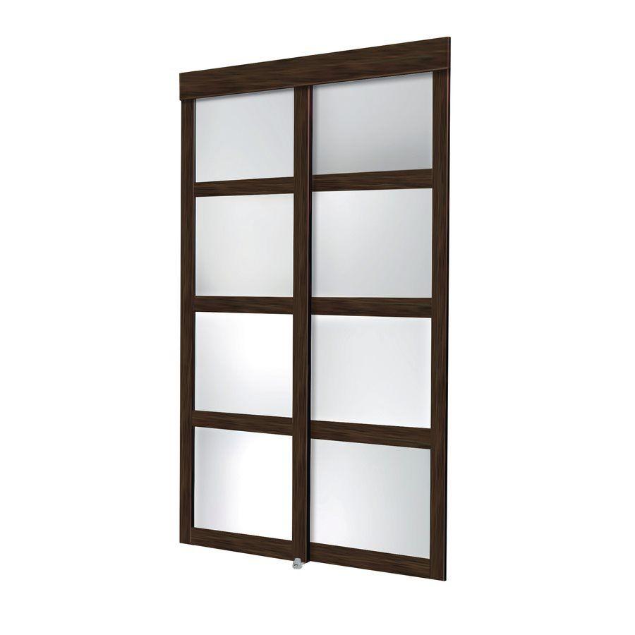 Thai 2 Panel Glass Sliding Closet Door Common 48 In X 80 In
