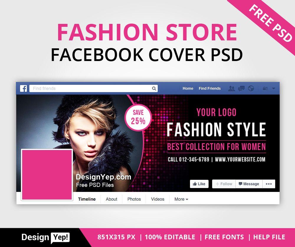 Free-Fashion-Store-Facebook-Timeline-Cover-PSD-7755-DesignYep ...