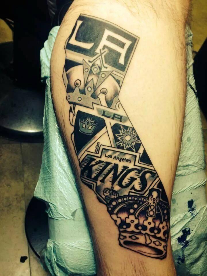 Los angeles kings tattoo king tattoos hockey tattoo la