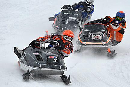 Vintage racing yamaha snowmobile