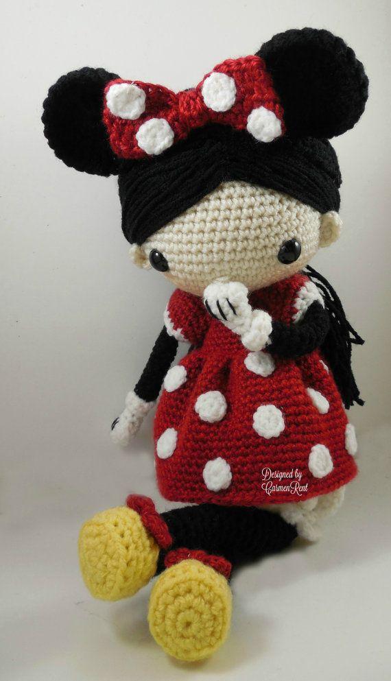 Minnie - Amigurumi Doll Crochet Pattern PDF | Pinterest | Muñeca ...
