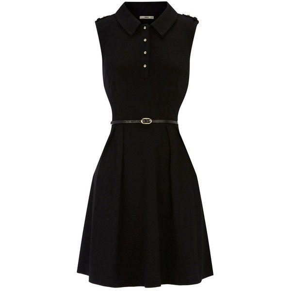 Oasis Military ponte skater dress ($62) ❤ liked on Polyvore
