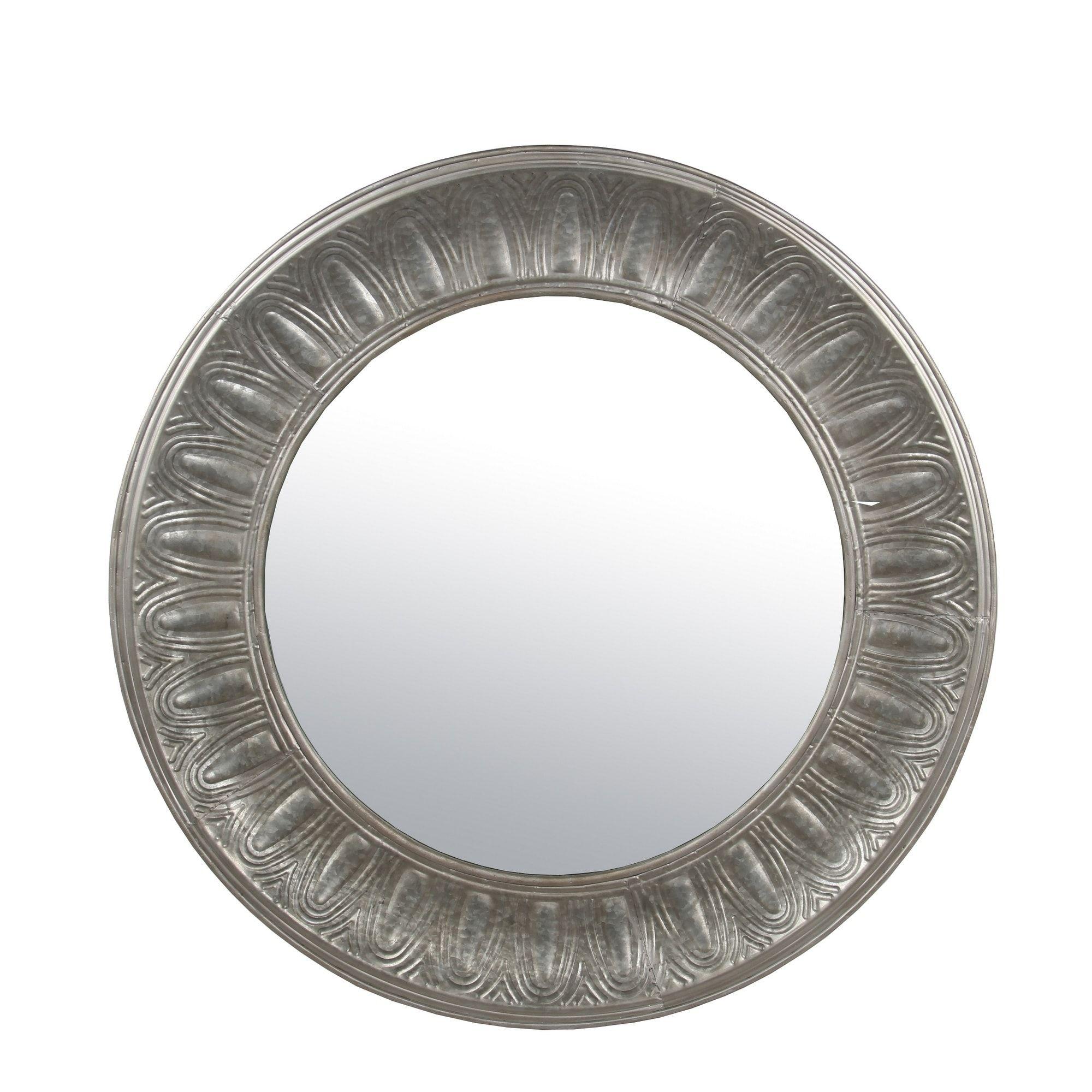 Privilege grey woodmetal round mirror round mirrors rounding and