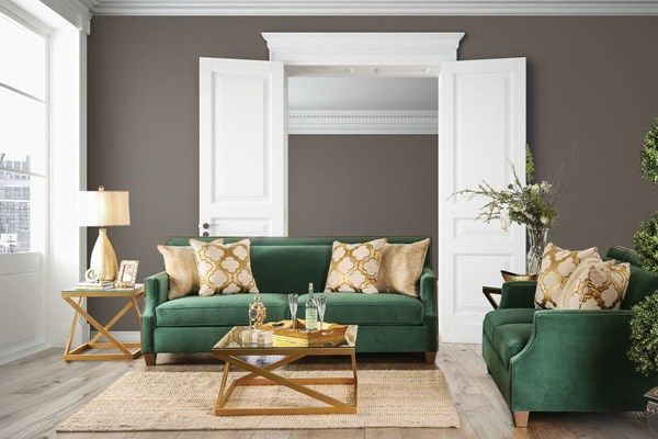 Verdante Transitional Green Microfiber Sofa | Furniture of ...