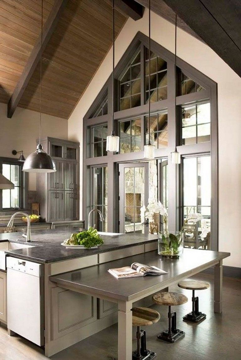 45+ Elegant Contemporary High-End Natural Wood Kitchen