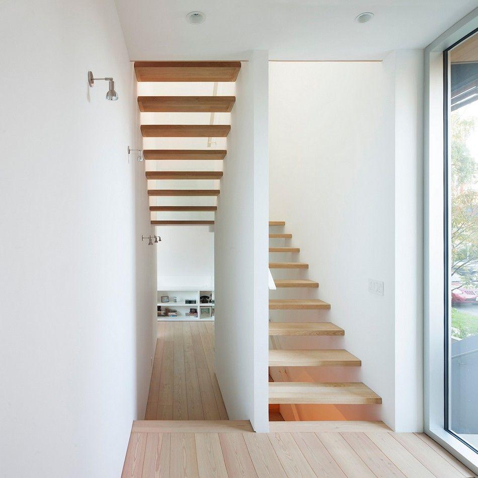 Casa Asimetrica 9 Decoraci N Pinterest Escalera Casas  ~ Escaleras Prefabricadas De Madera