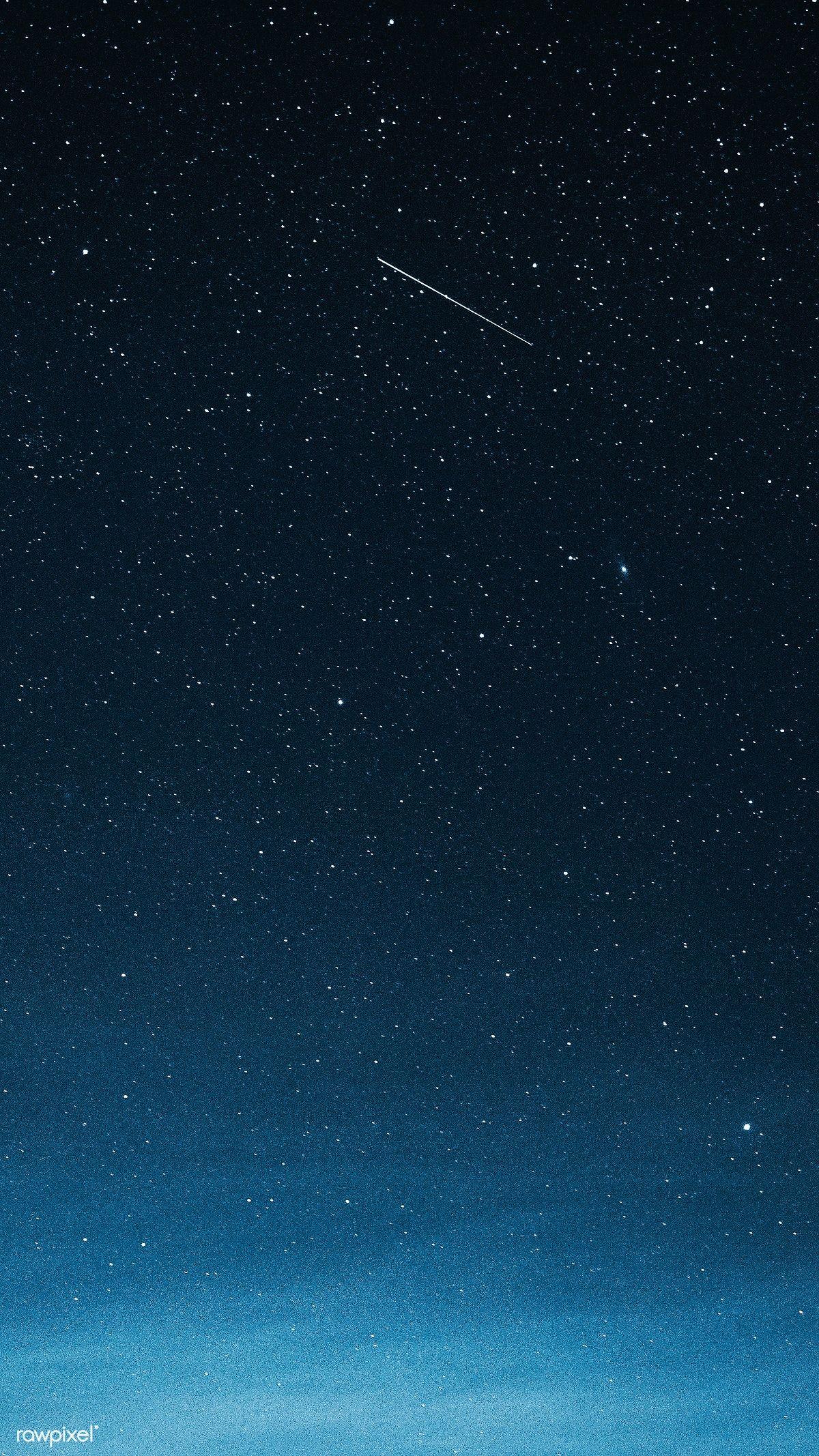 Shooting Star In The Dark Blue Sky Over Greenland Premium Image By Rawpixel Com Luke Stackpoole Dark Blue Wallpaper Blue Sky Wallpaper Blue Aesthetic Dark
