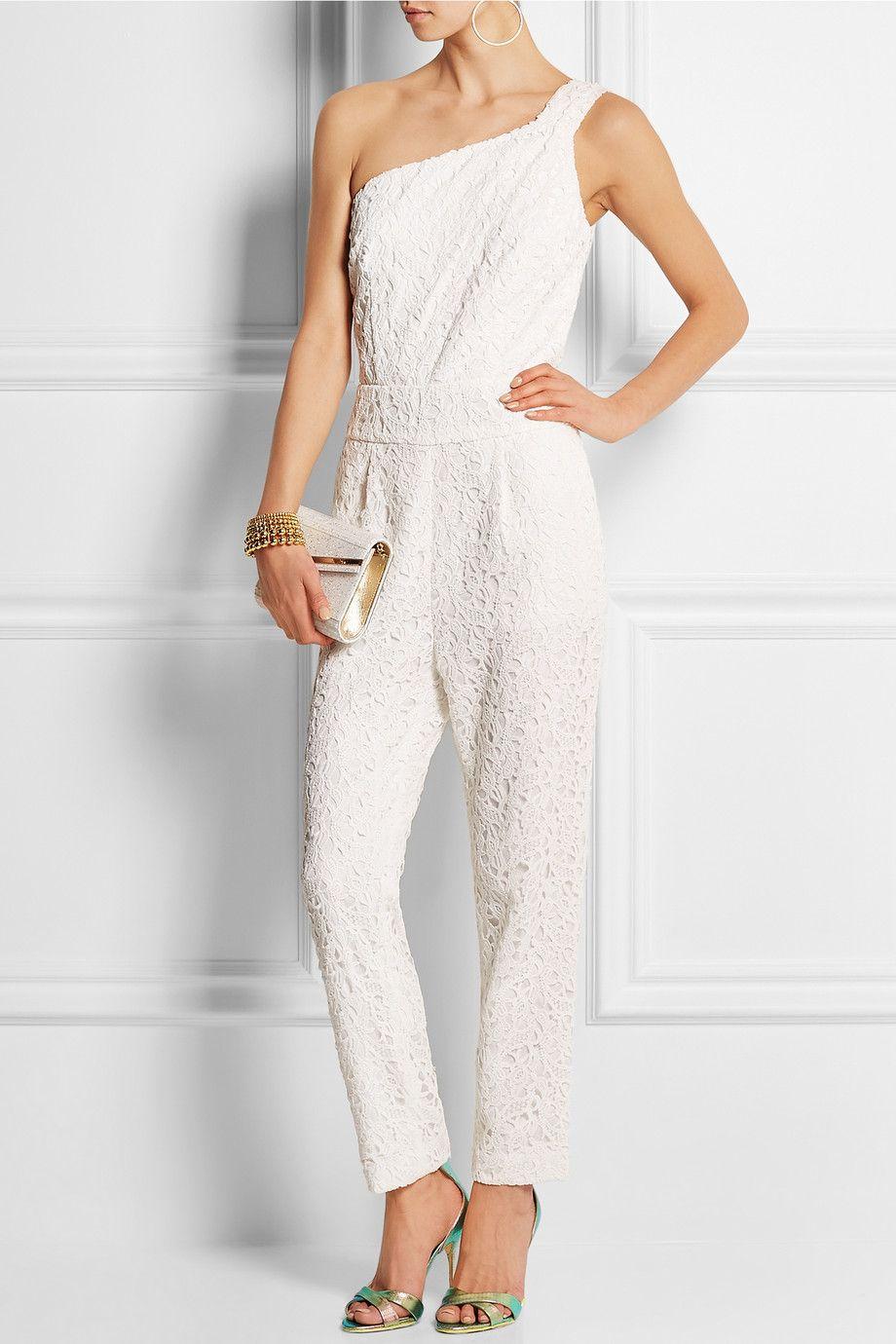 35fa6729b01c J.Crew - Nia Bridal one-shoulder floral-lace jumpsuit