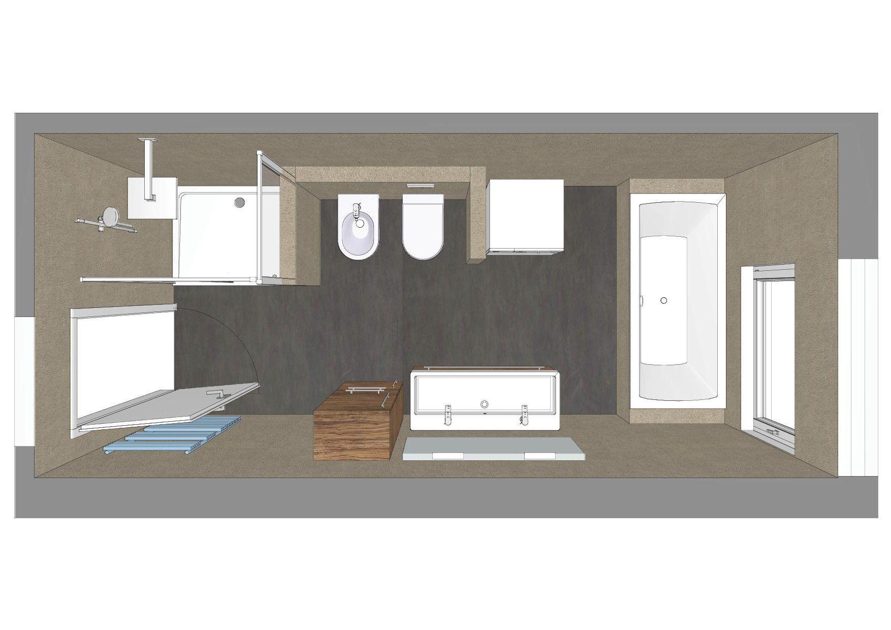 Bad Planung Fur Das Schlauch Badezimmer Badezimmer Kleine Badezimmer Badezimmer Grundriss