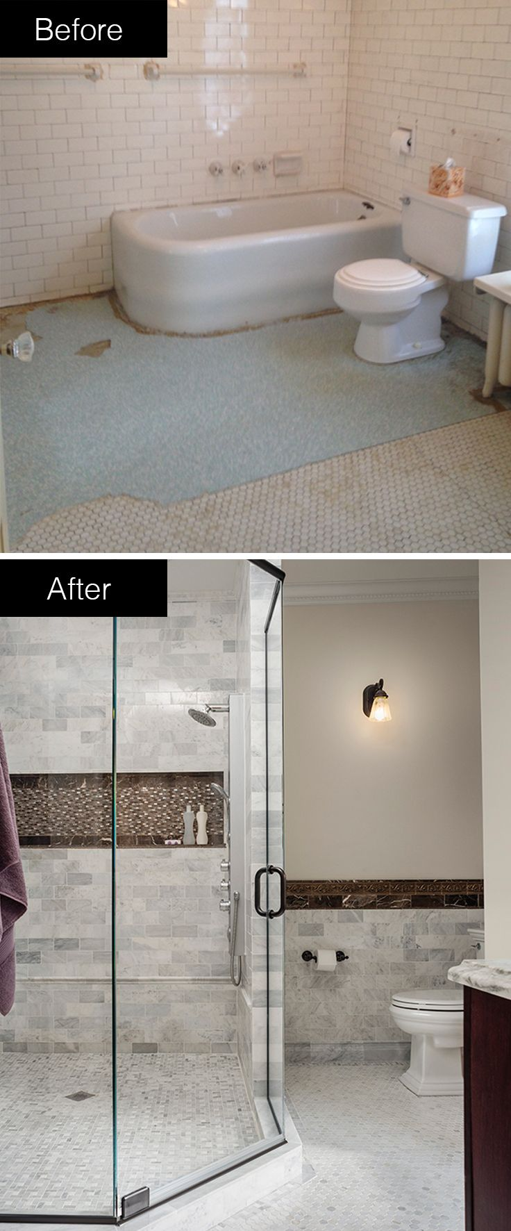 A Spacious Shower And Sleek Tile Work Transform This Bathroom Into A - Bathroom remodeling butler pa