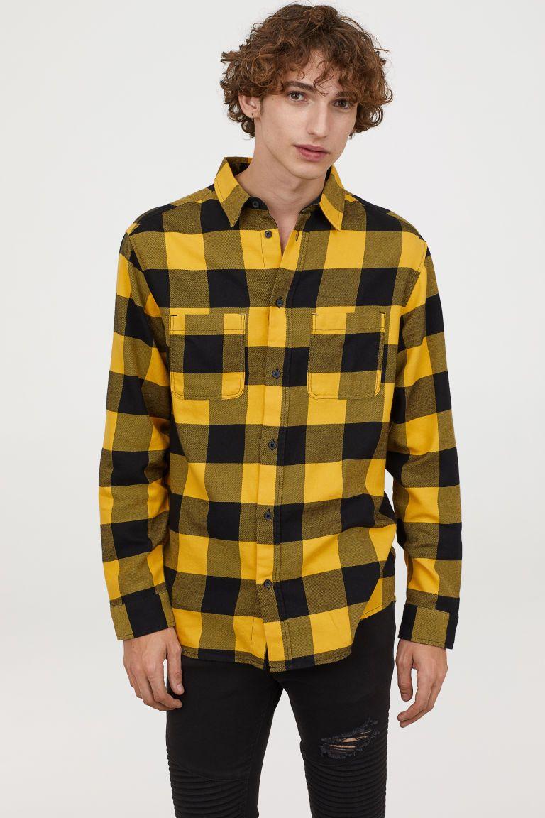 6bffc69fa7b99 Cotton flannel shirt | Xmas | Flannel shirt, Black flannel shirt, Shirts