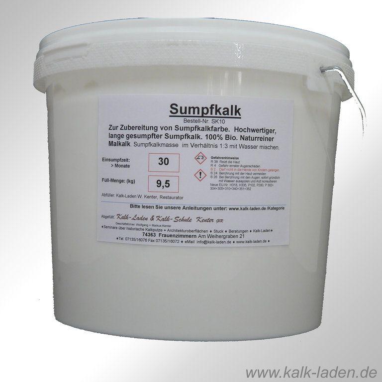 Sumpfkalk Kalkfarbe Streichkalk 100 Bio Allergiefreundlich